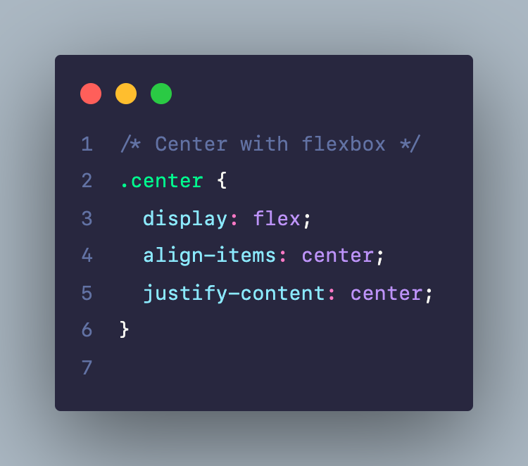 Center với Flexbox