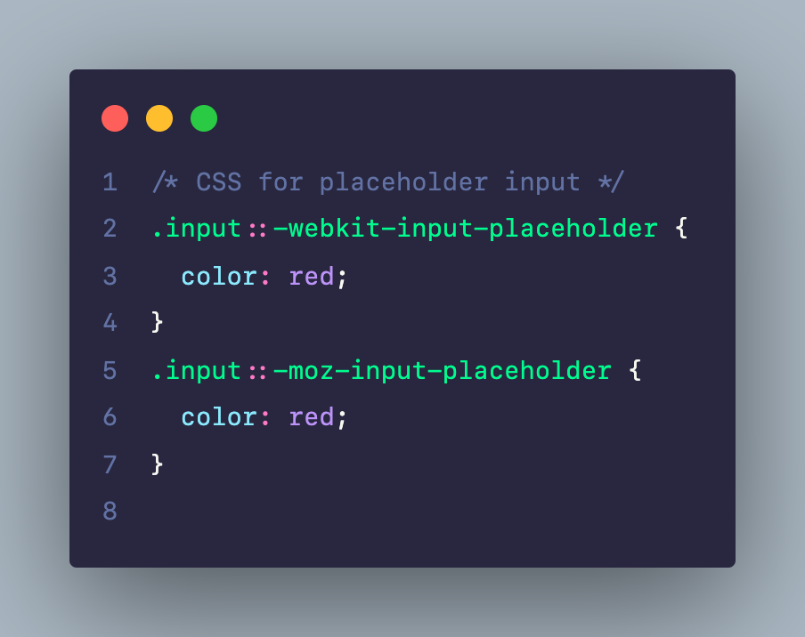 CSS cho placeholder của input, textarea