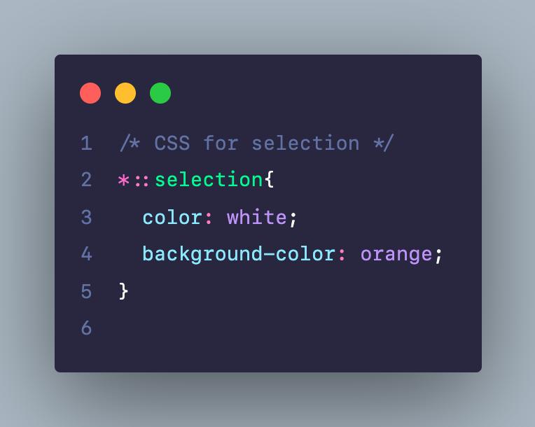 CSS cho selection