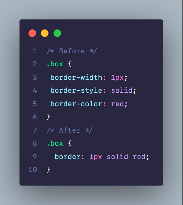 Viết rút gọn code CSS cho thuộc tính border