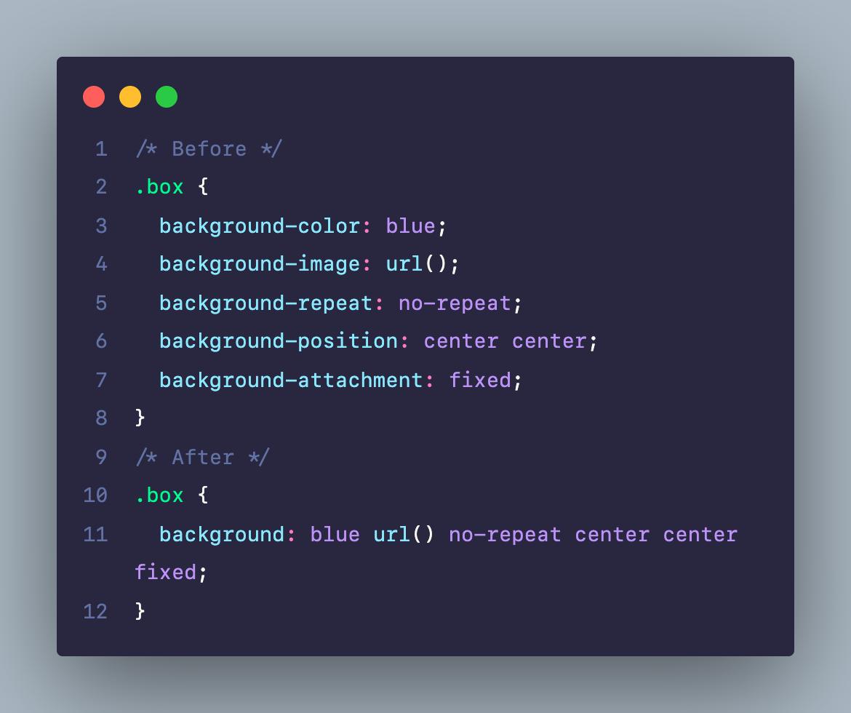 Viết rút gọn code CSS cho thuộc tính background